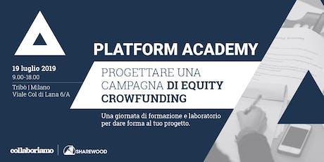 Platform Academy - Come progettare una campagna di equity crowdfunding biglietti