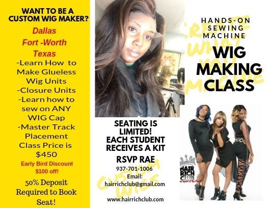 Dallas Texas Sewing Machine Wig Training 2 Jun 2019