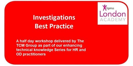 Workplace Investigations Best Practice tickets