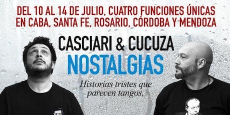 «Nostalgias», Casciari & Cucuza ✦ SÁB 13 JUL ✦ Córdoba entradas