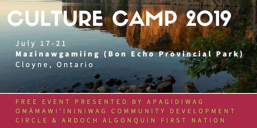 2019 Apagidiwag/Ardoch Algonquin Culture Camp
