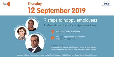 7 steps to happy employees - Evidence-based ideas for an effective wellbeing strategy tickets