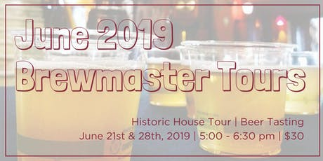 June Brewmaster Tours tickets