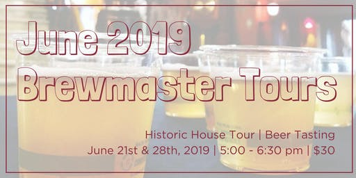June Brewmaster Tours