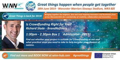 Is Crowdfunding Right for You? Richard Slade - BrandRefinery
