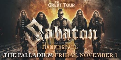 SABATON: THE GREAT TOUR tickets