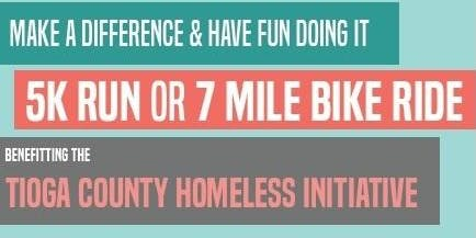 Tioga County Homeless Initiative 5K Run or 7 Mile Bike Ride