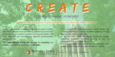 Creative Thinking Workshop October 18, 2019 tickets