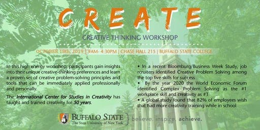 Creative Thinking Workshop October 18, 2019