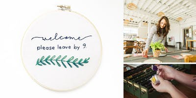 Sip + Stitch: A Hand Embroidery Workshop