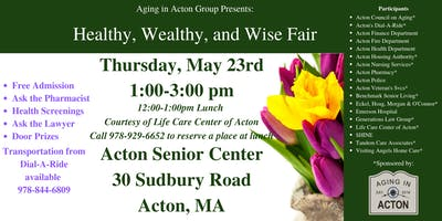Healthy, Wealthy and Wise Fair