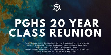 Prince George High School Class of 1999 20 year reunion tickets