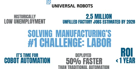 Cobots: Solving the Manufacturing Labor Challenge tickets