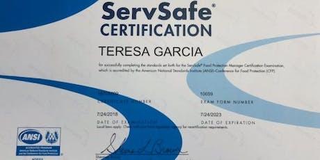 ServSafe® Food Mgr. Certification Class tickets