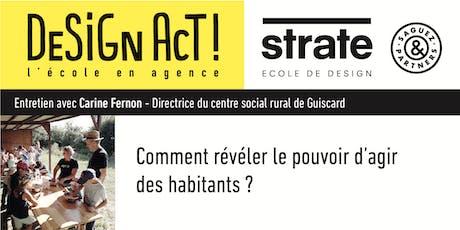 MasterClass de Carine Fernon, Directrice du centre social de Guiscard tickets