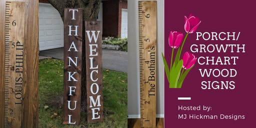 Porch/Growth Chart Wood Signs
