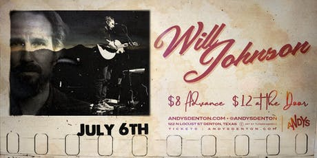 Will Johnson @ Andy's Bar (Venue) tickets
