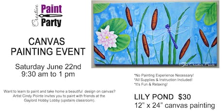 Lily Pond --- Saturday June 22nd   9:30 am  tickets