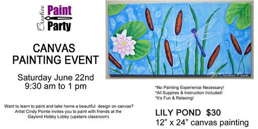 Lily Pond --- Saturday June 22nd   9:30 am