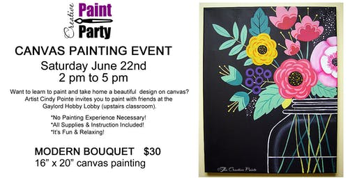 Modern Bouquet -- Saturday June 22   2 pm