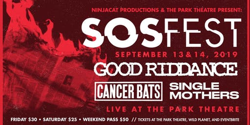 SOSFest Night 1 - Good Riddance  / The Ripperz & More