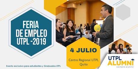 Feria de Empleo UTPL 2019 - Quito entradas