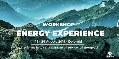 WORKSHOP DI TRASFORMAZIONE ENERGY EXPERIENCE biglietti