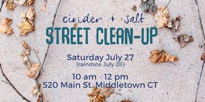 cinder + salt Street Clean-Up in Middletown CT