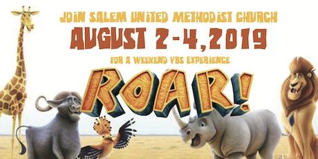 """VBS 2019 """"ROAR"""" tickets"""