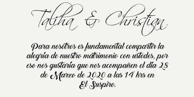 Boda Taliha y Christian