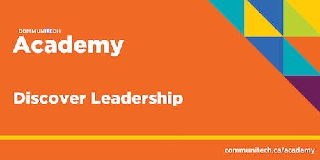 Communitech Academy: Discover Leadership - Fall 2019 tickets
