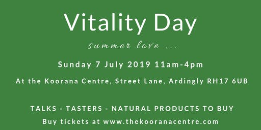 Vitality Day - Summer Love (Entry/no talks)