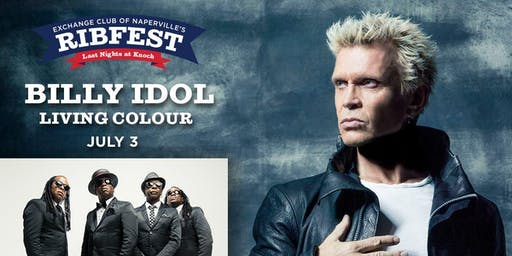 Billy Idol & Living Colour: July 3rd Naperville's Ribfest