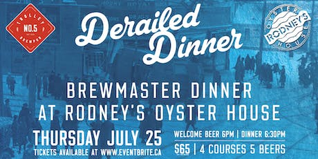 Derailed Dinner with Trolley 5 tickets