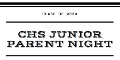 11th grade parent night: Class of 2020 - SESSION ONE