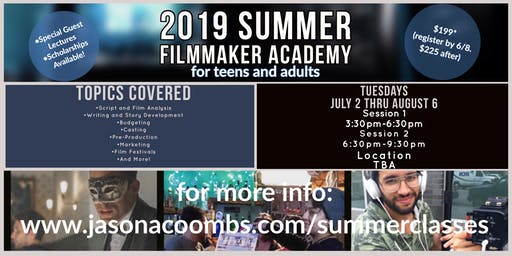 2019 Summer Filmmaker Academy: Session 1