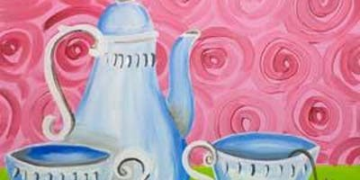 """CANVAS CLASS: """"Tea For Two"""" Adult Paint & Sip"""