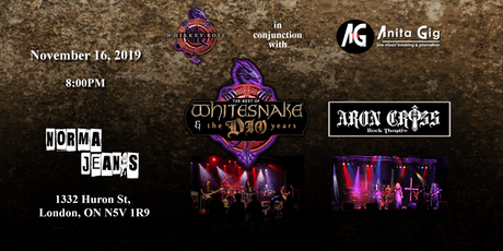 "Whiskey Rose / Anita Gig ~ ""Tributes to Whitesnake & Dio"" tickets"
