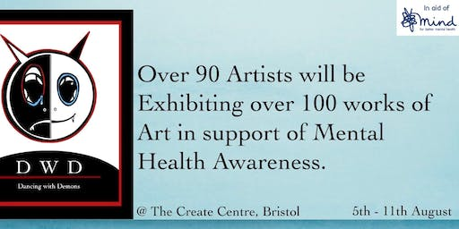 DWD Art Exhibition  in support of mental health awareness.