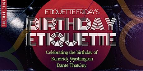 Etiquette Fridays tickets