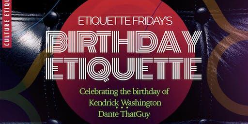Etiquette Fridays