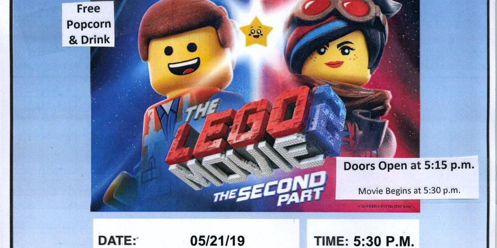 Free Movie Night At The Library The Lego Movie 2 The Second Part