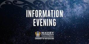 Massey University Postgraduate Information Evenings...