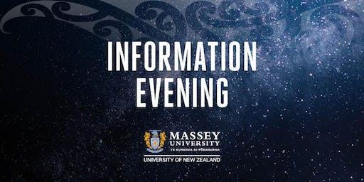 Massey University Postgraduate Information Evenings 2019