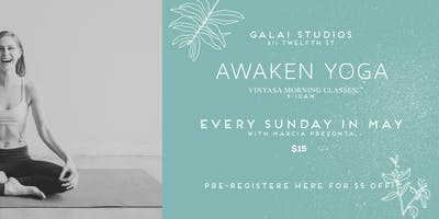 MAY 26 | Vinyasa Morning Yoga | Galai Studios x Marcia Prefontaine