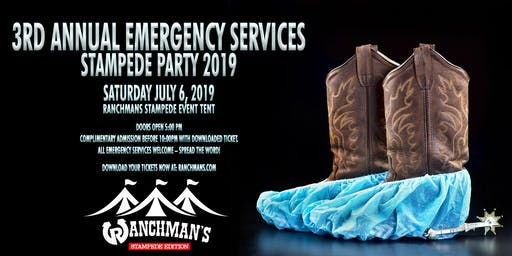 3rd Annual Emergency Services Stampede Party 2019