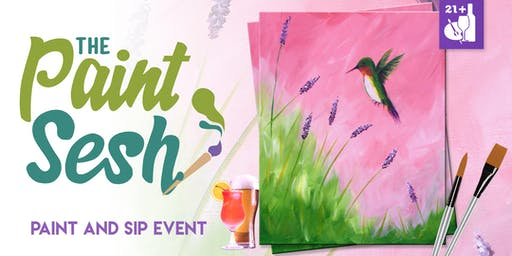 """Paint and Sip in Riverside, CA - """"Humming Bird"""""""