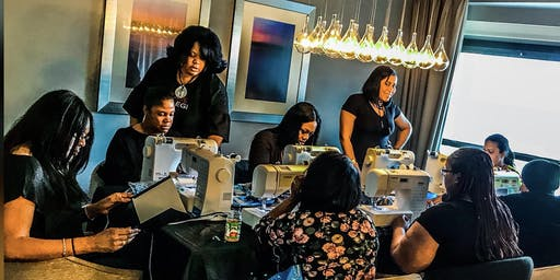 Jacksonville Fl Lace Front Wig Making Class with Sewing Machine