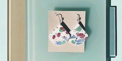 DIY Marbled Paper Earrings