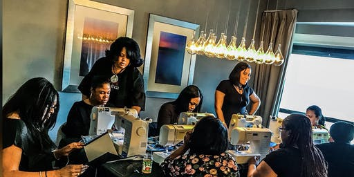 Charlotte NC Lace Front Wig Making Class with Sewing Machine
